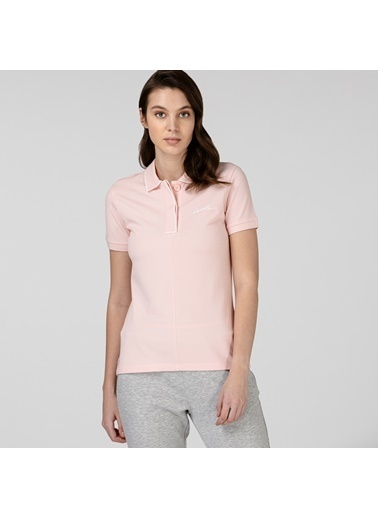 Lacoste Kadın Regular Fit Tişört PF0102.02P Pembe